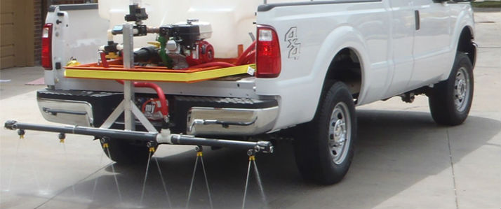 Truck mounted ice control sprayers